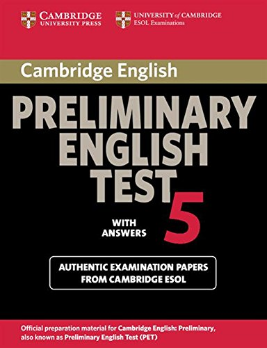 9780521714389: Cambridge Preliminary English Test 5 Student's Book with answers: With Answers Paper 5 (PET Practice Tests)