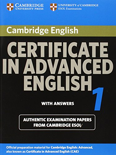9780521714426: Cambridge Certificate in Advanced English 1 for updated exam Student's Book with answers: Official Examination papers from University of Cambridge ESOL Examinations (CAE Practice Tests)