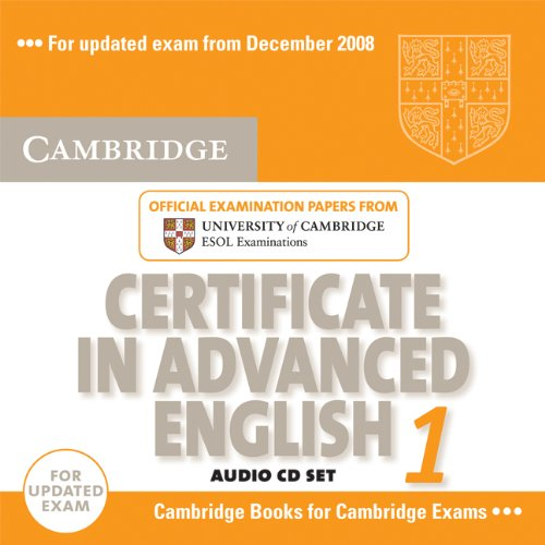 9780521714457: Cambridge Certificate in Advanced English 1 for updated exam Audio CDs (2): Official Examination Papers from University of Cambridge ESOL Examinations: Paper 1 (CAE Practice Tests)