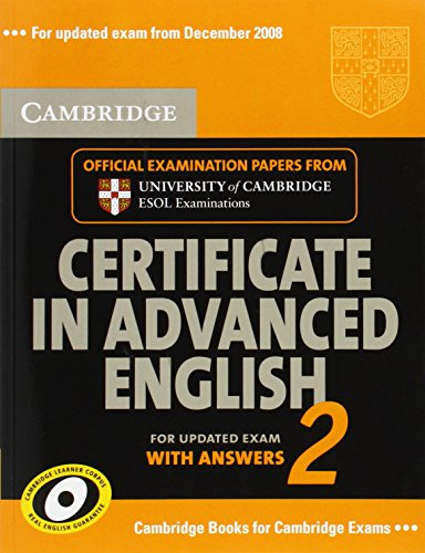 9780521714471: Cambridge Certificate in Advanced English 2: For Updated Exam with Answers (No. 2)