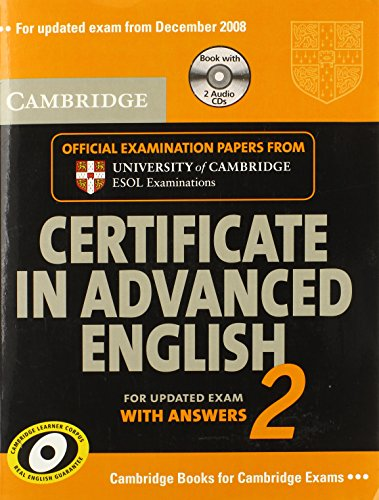 9780521714488: Cambridge Certificate in Advanced English 2 for updated exam Self-study Pack: Official Examination Papers from Cambridge ESOL
