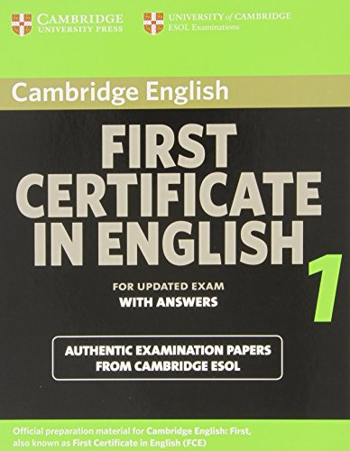 9780521714501: Cambridge First Certificate in English 1 for updated exam Student's Book with answers: Official Examination Papers from University of Cambridge ESOL Examinations (FCE Practice Tests)