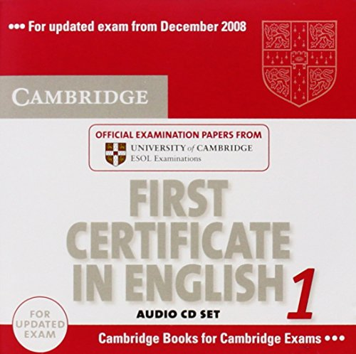 9780521714525: Cambridge First Certificate in English 1 for updated exam Audio CDs (2): Official Examination Papers from University of Cambridge ESOL Examinations: Level 1 (FCE Practice Tests)
