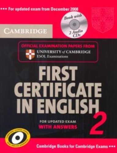 9780521714556: Cambridge first certificate in english. For updated exam. Self-study pack. Per le Scuole superiori: Cambridge First Certificate in English 2 for ... ESOL Examinations (FCE Practice Tests)