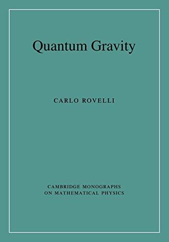 9780521715966: Quantum Gravity (Cambridge Monographs on Mathematical Physics)