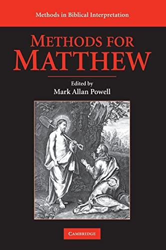 9780521716147: Methods for Matthew