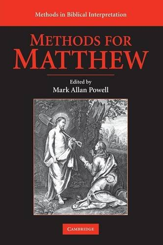 9780521716147: Methods for Matthew (Methods in Biblical Interpretation)