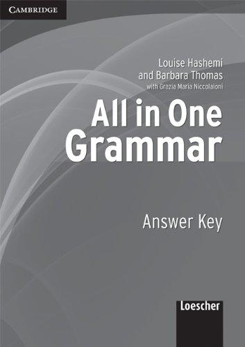 All in One Grammar Answer Key Italian: Louise Hashemi, Barbara