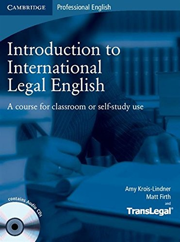 9780521718998: Introduction to International Legal English Student's Book with Audio CDs (2): A Course for Classroom or Self-study Use