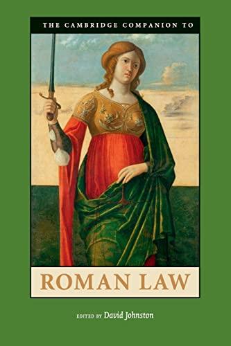 9780521719940: The Cambridge Companion to Roman Law (Cambridge Companions to the Ancient World)