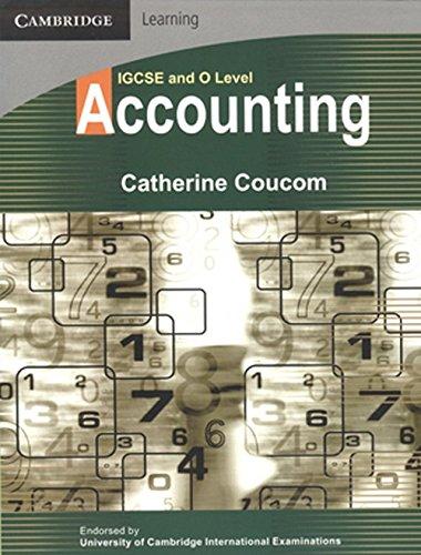 IGCSE and O Level Accounting (Cambridge Learning): Coucom, Catherine