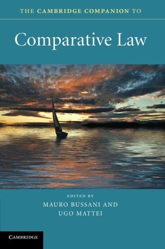 9780521720052: The Cambridge Companion to Comparative Law (Cambridge Companions to Law)