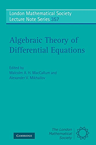 9780521720083: Algebraic Theory of Differential Equations (London Mathematical Society Lecture Note Series)