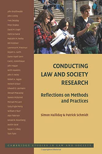 9780521720427: Conducting Law and Society Research: Reflections on Methods and Practices (Cambridge Studies in Law and Society)