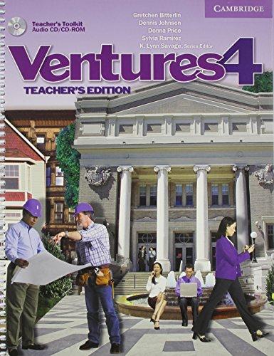 9780521721059: Ventures  4 Teacher's Edition with Teacher's Toolkit Audio CD/CD-ROM: Level 4