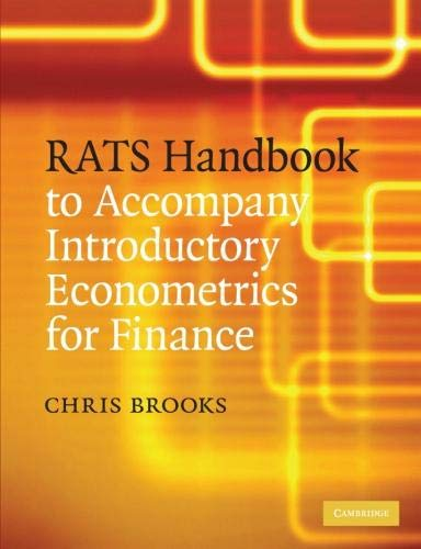 9780521721684: RATS Handbook to Accompany Introductory Econometrics for Finance