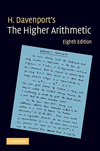 9780521722360: The Higher Arithmetic 8th Edition Paperback: An Introduction to the Theory of Numbers