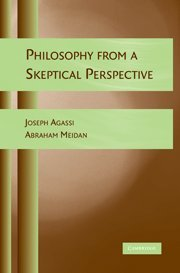 Philosophy from a Skeptical Perspective: Agassi, Joseph, Meidan,