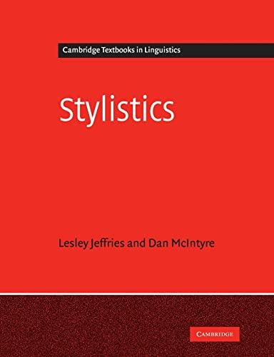9780521728690: Stylistics (Cambridge Textbooks in Linguistics)