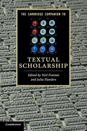 9780521730297: The Cambridge Companion to Textual Scholarship Paperback (Cambridge Companions to Literature)