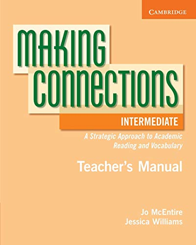 9780521730501: Making Connections Intermediate Teacher's Manual: A Strategic Approach to Academic Reading and Vocabulary