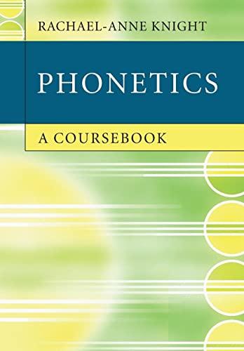 9780521732444: Phonetics