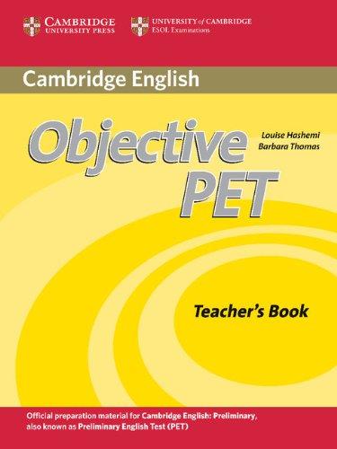 9780521732697: Objective PET 2nd Teacher's Book
