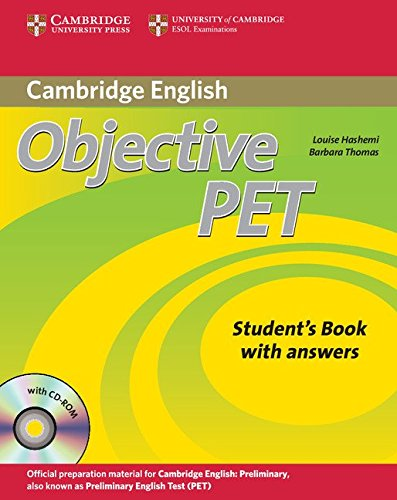 9780521732727: Objective PET Self-study Pack (Student's Book with answers with CD-ROM and Audio CDs(3)) [Lingua inglese]