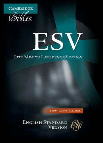 ESV Pitt Minion Reference Edition ES446:X Brown Goatskin Leather