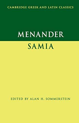 9780521735421: Menander: Samia (The Woman from Samos) (Cambridge Greek and Latin Classics)