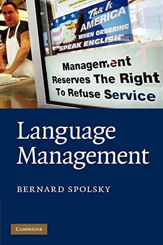 9780521735971: Language Management