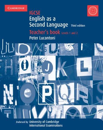 9780521736015: IGCSE English as a Second Language Teacher's Book Levels 1 and 2 (Cambridge International IGCSE)