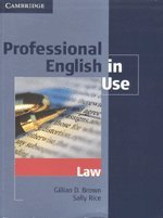 9780521736404: Professional English in Use, Law (South Asian Edition)