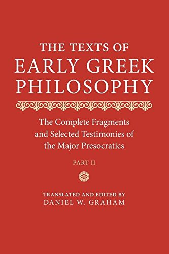 9780521737647: Texts of Early Greek Philosophy : The Complete Fragments and Selected Testimonies of the Major Presocratics