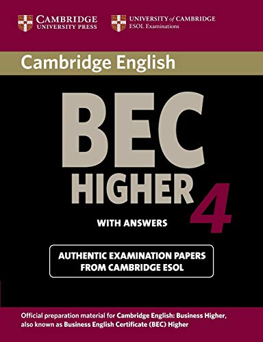 9780521739207: Cambridge BEC 4 Higher Student's Book with answers: Examination Papers from University of Cambridge ESOL Examinations (BEC Practice Tests)