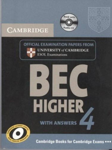 9780521739221: Cambridge BEC 4 Higher Self-study Pack (Student's Book with answers and Audio CD): Examination Papers from University of Cambridge ESOL Examinations (BEC Practice Tests)