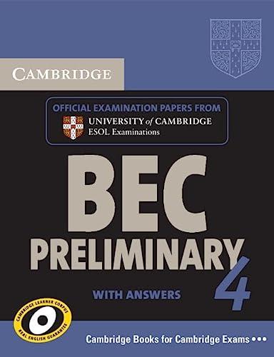 9780521739252: Cambridge BEC. Preliminary. Student's book with answers. Con CD Audio. Per gli Ist. Tecnici e professionali: 4