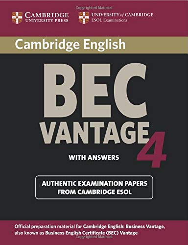 9780521739269: Cambridge BEC 4 Vantage Student's Book with answers: Examination Papers from University of Cambridge ESOL Examinations (BEC Practice Tests)