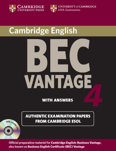 9780521739283: Cambridge BEC 4 Vantage Self-study Pack (Student's Book with answers and Audio CDs (2)): Examination Papers from University of Cambridge ESOL Examinations (BEC Practice Tests)