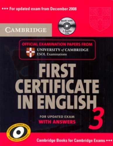 9780521739320: Cambridge First Certificate in English 3 for Updated Exam Self-study Pack (Student's Book with answers and Audio CDs): Examination Papers from ... ESOL Examinations (FCE Practice Tests)
