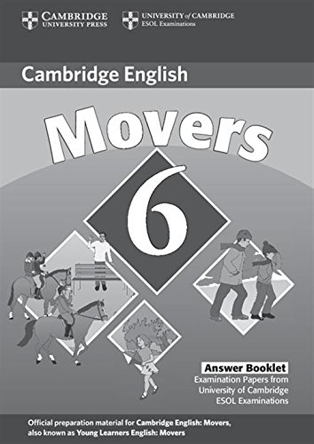 9780521739375: Cambridge Young Learners English Tests 6 Movers Answer Booklet: Examination Papers from University of Cambridge ESOL Examinations (No. 6)