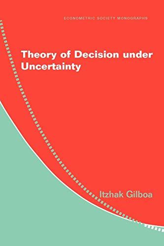9780521741231: Theory of Decision under Uncertainty (Econometric Society Monographs)