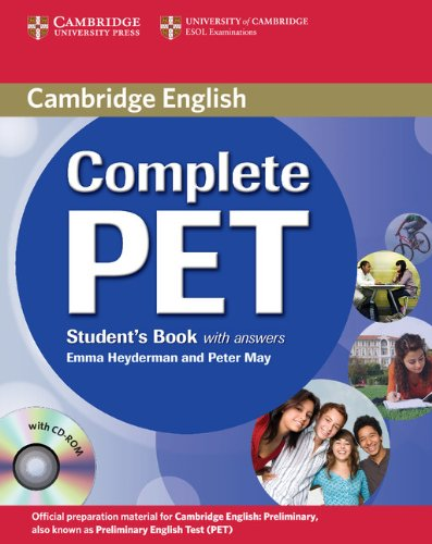 9780521741361: Complete PET Student's Book with answers with CD-ROM