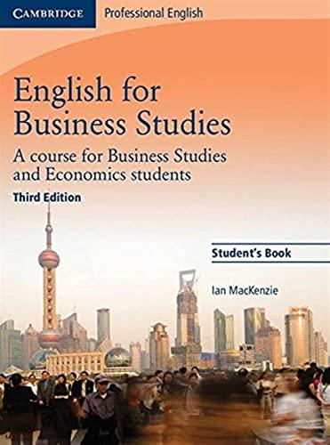9780521743419: English for business studies. Student's book. Per le Scuole