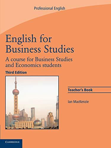 9780521743426: English for Business Studies Teacher's Book: A Course for Business Studies and Economics Students