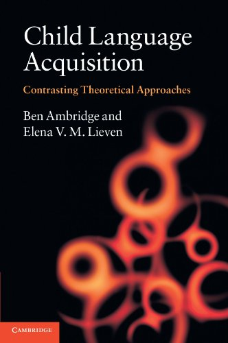 9780521745239: Child Language Acquisition: Contrasting Theoretical Approaches