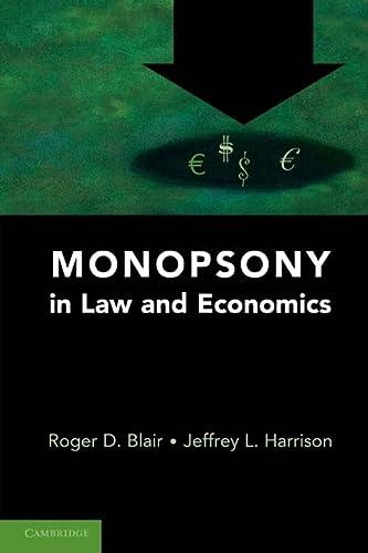 9780521746083: Monopsony in Law and Economics