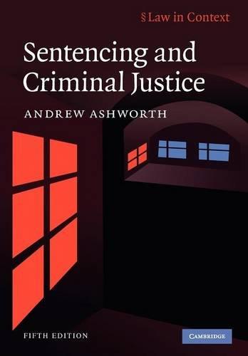 9780521748759: Sentencing and Criminal Justice