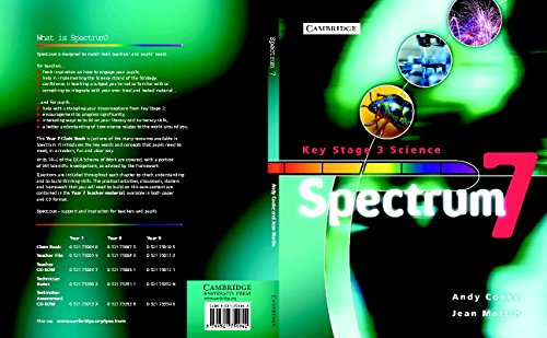 9780521750042: Spectrum Year 7 Class Book (Spectrum Key Stage 3 Science)