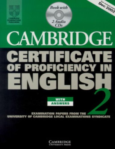 9780521751049: Cambridge Certificate of Proficiency in English 2 Self-study Pack: Examination papers from the University of Cambridge Local Examinations Syndicate (CPE Practice Tests)